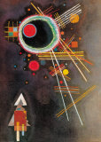 Strahlenlinien Affiches par Wassily Kandinsky