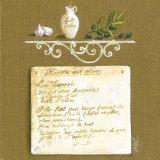 Recette aux Olives Poster by Véronique Didier-Laurent