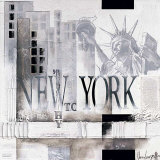 Marie Louise Oudkerk - New York, WTC Why Plakát