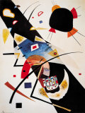 Dos manchas negras Psters por Wassily Kandinsky