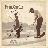 Putting Golf Club Poster