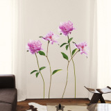 Pivoine Rose Autocollant mural