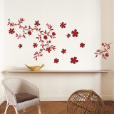 Fleurs Rouge Autocollant mural