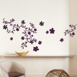 Fleurs Purple - Duvar Çıkartması