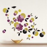 Japanese Flowers Wall Decal