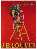 Cycles J.B. Louvet Giclee Print by  Mich (Michel Liebeaux)