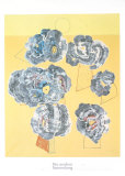 Fleurs sur Fond Jaune Prints by Max Ernst