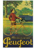 Cycles Peugeot Giclee Print by Almery Lobel-riche