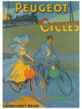 Cycles Peugeot Reproduction procédé giclée