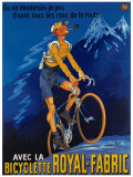 Bicyclette Royal Fabric Giclee Print by Mich (Michel Liebeaux)