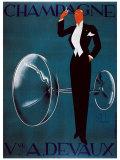 Champagne Vve. A. Devaux Giclee Print by Ernest Deutsch-dryden