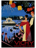 Vichy Comite des Fetes Giclee Print by Roger Broders
