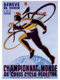 Championnat du Monde de Cross Cyclo-Pedestre Giclee Print by Noel Fontanet