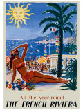 The French Riviera Giclee Print by Hervé Baille