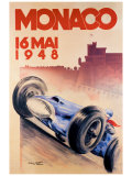 Grand Prix de Monaco, 1948 Lámina giclée por George Mattei
