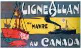 Ligne Allan Canada Giclee Print by Norman Wilkinson