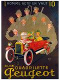 Quadreilette Peugeot Giclee Print by  Mich (Michel Liebeaux)
