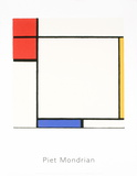 Composition with Red, Yellow, and Blue Silketrykk av Piet Mondrian
