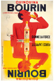 Quinquina Bourin Wydruk giclee autor Jacques Bellenger