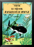 Red Rackham's Treasure (1944) Poster by Hergé (Georges Rémi)