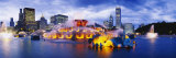 Fountain Lit Up at Dusk, Buckingham Fountain, Grant Park, Chicago, Illinois, USA Photographic Print by  Panoramic Images