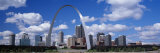 Metal Arch in Front of Buildings, Gateway Arch, St. Louis, Missouri, USA Photographic Print by Panoramic Images