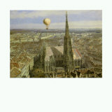 Balloon Ride over Vienna, c.1847 Posters by Jakob Alt