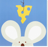 Peek-a-Boo V, Mouse Stretched Canvas Print by Yuko Lau