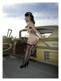 50's Pin-Up Girl Impression giclée par David Perry