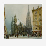 St.Stephen&#39;s Cathedral at Christmas, c.1850 Prints by Rudolph von Alt