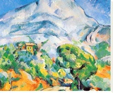 La Montagne St. Victoire Stretched Canvas Print by Paul Cézanne
