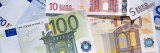 Close-Up of Euro Banknotes Photographic Print by  Panoramic Images