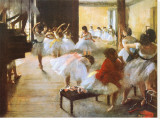 Ecole de Danse Stretched Canvas Print by Edgar Degas