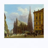 The Stephansplatz, c.1834 Prints by Rudolph Alt