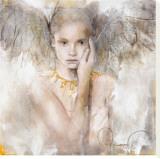 I sandheden er der kærlighed Lærredstryk på blindramme af Elvira Amrhein