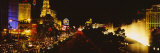 Buildings Lit Up at Night, Las Vegas, Nevada, USA Photographic Print by  Panoramic Images