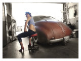 Hot Rod Pin-Up Girl Giclee Print by David Perry