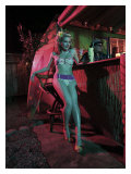 Tiki Bar Pin-Up Girl Giclee Print by David Perry