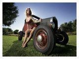 Hot Rod Pin-Up Girl Impression giclée par David Perry