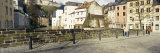 Two People Walking on the Sidewalk, Luxembourg City, Luxembourg Photographic Print by  Panoramic Images