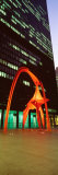 Buildings Lit Up at Night, Federal Plaza, Chicago, Illinois, USA Photographic Print by Panoramic Images