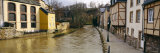 Buildings Along a Canal, Luxembourg City, Luxembourg Photographic Print by  Panoramic Images