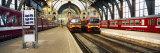 Trains at a Railroad Station, the Railway Station of Antwerp, Antwerp, Belgium Fotografisk trykk av Panoramic Images,