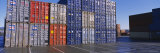 Cargo Containers on a Commercial Dock Photographic Print by  Panoramic Images