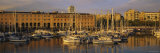 Sailboats at the Port, Port Vell, Barcelona, Spain Photographic Print by  Panoramic Images
