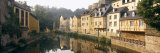 Buildings Along Alzette River, Luxembourg City, Luxembourg Photographic Print by  Panoramic Images