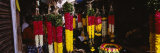 Garlands Hanging at a Market Stall, Pondicherry, India Photographic Print by  Panoramic Images