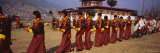 Dancers Parading in a Traditional Festival Ground, Paro, Bhutan Photographic Print by Panoramic Images 