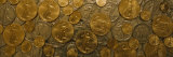 Close-Up of Assorted Gold and Silver Coins, Sacramento, California, USA Photographic Print by  Panoramic Images