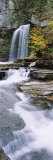 Stream Flowing Below a Waterfall, Eagle Cliff Falls, Montour Falls, Havana Glen, New York, USA Photographic Print by  Panoramic Images